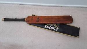 Old Wooden Racquet and old wooden cricket bat Keperra Brisbane North West Preview
