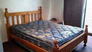Stockman solid wood queen size bed and mattress Glass House Mountains Caloundra Area Preview