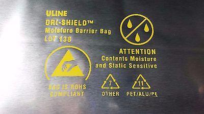 "10 PACK DRI-SHIELD 3400 MOISTURE BARRIER BAG, 10"" x 20"", CUSTOM ULINE MARKINGS"