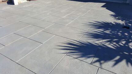 Liquid limestone exposed aggregate coloured concrete and standard