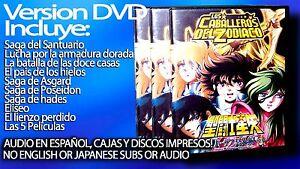 Caballeros del zodiaco coleccion completa DVD LATINO INCLUYE SANTUARIO Y OMEGA