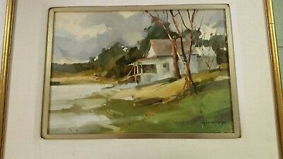 Listed American Artist Ted Goerschner (1933-2012) Original Oil Painting