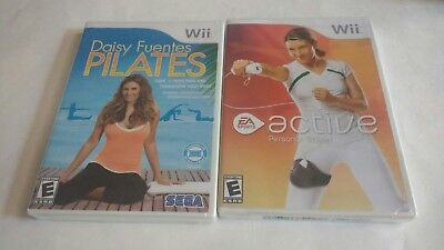 BRAND NEW - SEALED Wii Exercise- Active Personal Trainer & Daisy Fuentes Pilates Daisy Personalized Seal