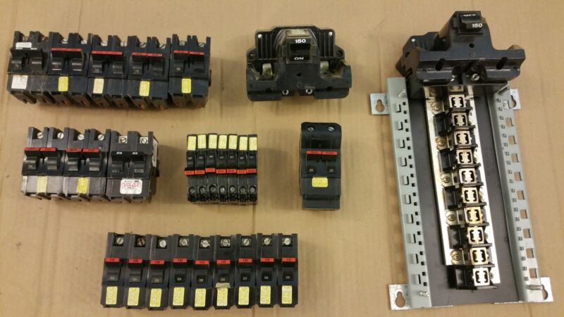 lots of Federal Pacific Electric circuit breakers (27)