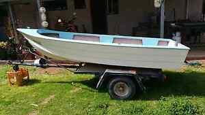 Swap 12 ft fiberglass boat,trailer,motor. Red Cliffs Mildura City Preview