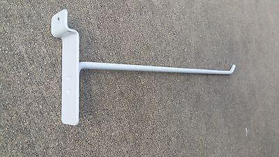 8 Slatwall Slat Long Hook Peg Hook Display Lot Of 100 Heavy Duty White Used