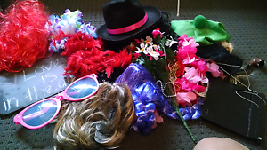 Party or Wedding Photobooth Fun Props with wigs, masks Woodville West Charles Sturt Area Preview