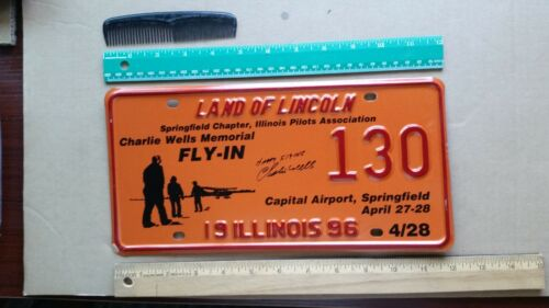 License Plate, Illinois, Special Event (cf NOTE) Small Plane, 130