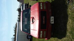 gmc red truck for sale as is