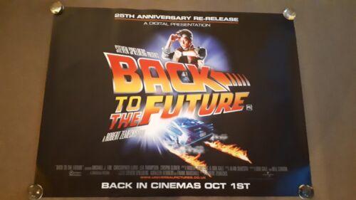 Back to the Future ORIGINAL Cinema quad poster D/S  FULL SIZE Michael J Fox 25th