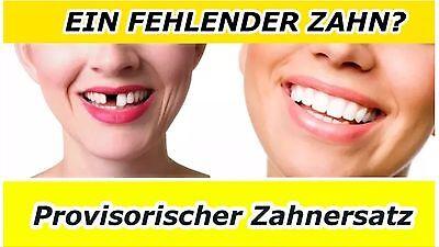 Provisorischer Zahnersatz Zahnarzt vorläufige Zahn Reparatur Aktionspack !!!