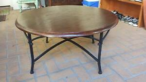 ROUND WOOD & METAL COFFEE TABLE, GC Greenslopes Brisbane South West Preview