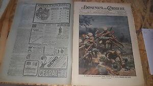 DOMENICA-DEL-CORRIERE-45-1914-CONQUISTA-POLVERIERA-OSTENDA-MESSA-VILLAGGIO