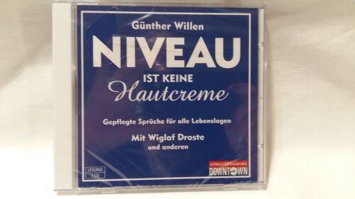 NIVEAU IST KEINE HAUTCREME - GÜNTHER WILLEN - HÖRBUCH - CD - NEU & OVP