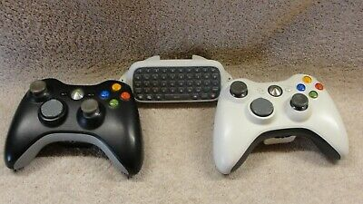 2 Xbox 360 Wireless Controllers and XBox 360 Chatpad for sale  Shipping to India
