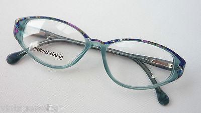 Meitzner Fataga Brillenfassung Damen in blau/grün schmale Butterflyform Gr. M
