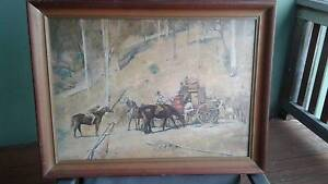Vintage Tom Roberts ''Bail Up'' Figtree Wollongong Area Preview