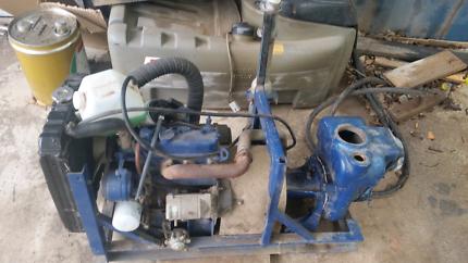 Water pump with diesel engine