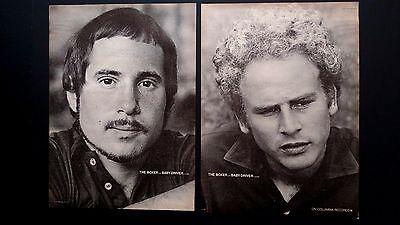"SIMON & GARFUNKEL""THE BOXER-BABY DRIVER"" 1969   RARE ORIGINAL PRINT PROMO POSTER"