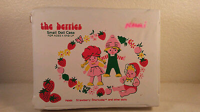 Vintage 1982 Strawberry Shortcake Small Doll Carrying Case & Accessories