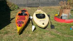 2 kayaks for sale Goodwood Glenorchy Area Preview
