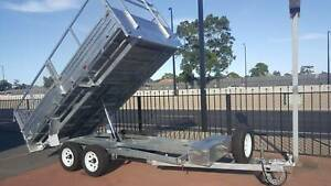 14' x 7' Flat top Tipper Trailer with ramps and cage Hindmarsh Charles Sturt Area Preview