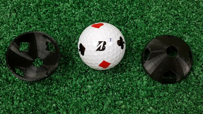 Golf Ball Marker Card Suits - Hearts, Clubs, Spades, Diamonds Stencil