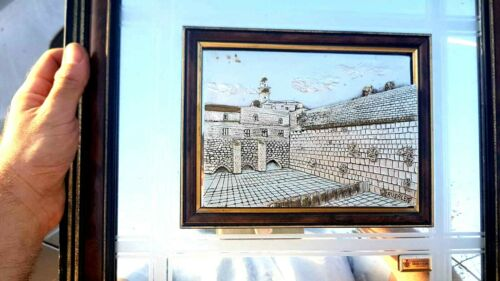Creazioni Artistiche Judaica  Sterling Silver  Western Wall of Jerusalem הכותל