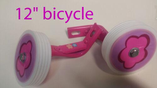"Kids girl Bicycle Heavy Duty Training Wheels for  12""  Bike Children pink"