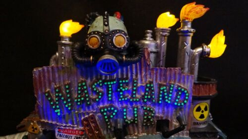 Lemax Spooky Town Wasteland Pub Halloween Village Video 85305