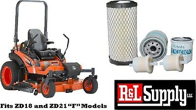 Kubota Zd18 Zd21 F Filter Maintenance Kit Free Shipping Oil Fuel Air
