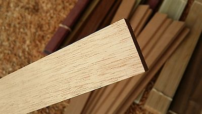 """Hobby Art Craft HardWood by the Piece MAHOGANY 12"""" x 1.4"""" x 1/8"""" Pre-Finished"""