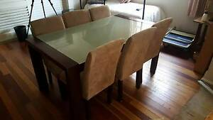 Glass Top Dining Table and 6 Chairs Bowral Bowral Area Preview
