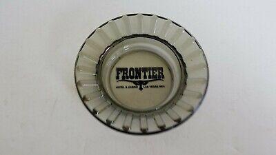 Vintage FRONTIER Hotel + Casino Las Vegas Glass 4-1/2 Ashtray K8