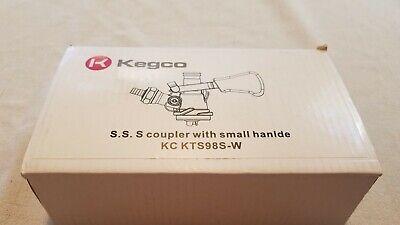 Kegco Stainless Steel S System Keg Coupler Ergonomic Lever Handle Model Kts98