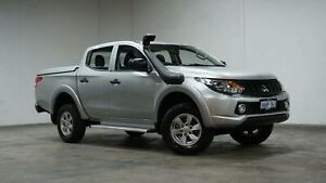 2017 Mitsubishi Triton MQ MY17 GLX Double Cab Silver 6 Speed Manual Utility Welshpool Canning Area Preview