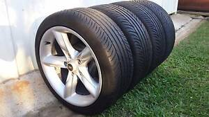 """17"""" ROH ALLOY HOLDEN COMMODORE RIMS AND KUMHO TYRES GOOD TREAD Kallangur Pine Rivers Area Preview"""