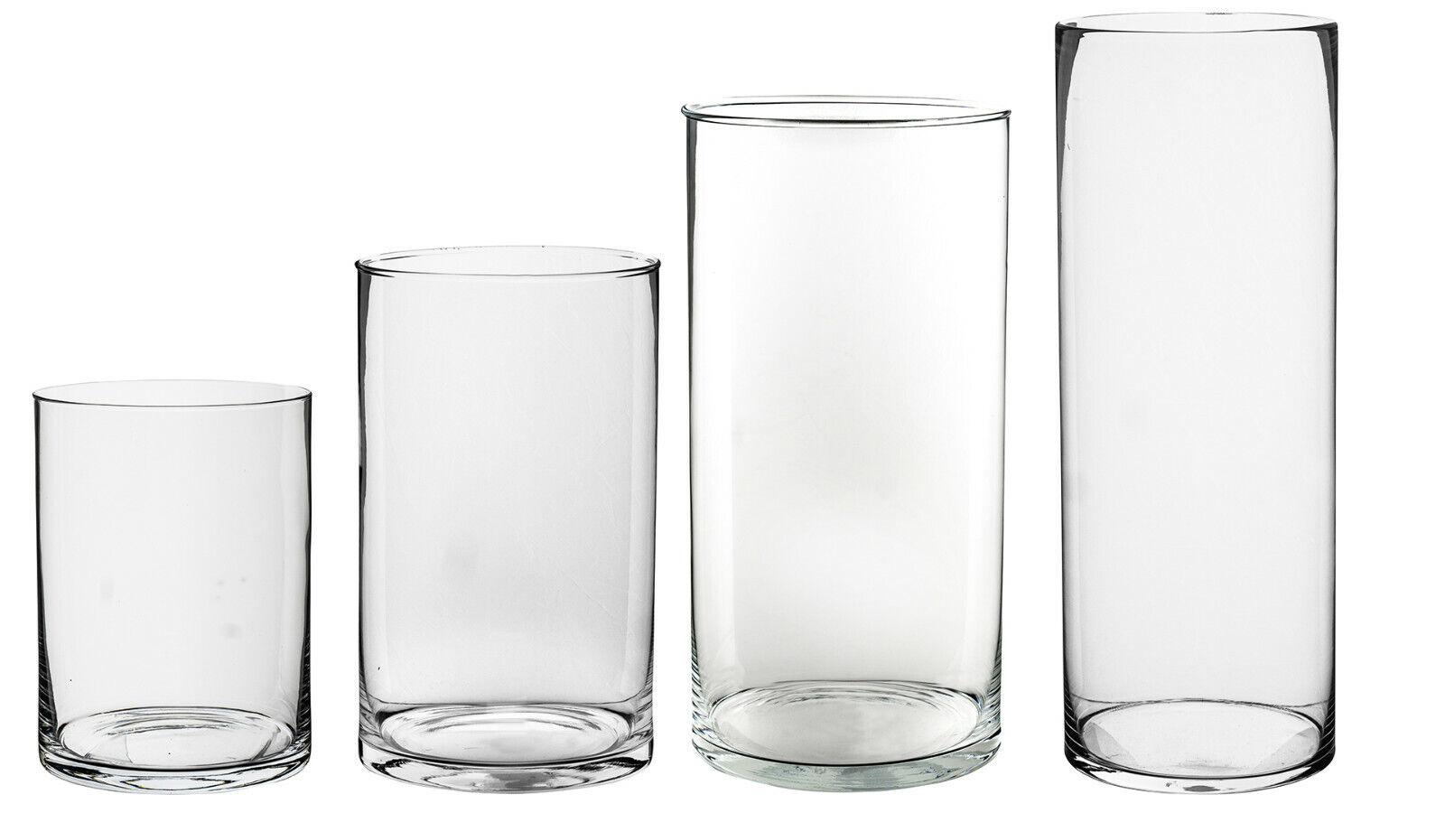 Vasen Glas Dekogläser Zylinder Blumenvase D15 cm 1 Stk- 4 Größen