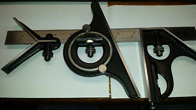 Starrett Combination Square Set W12 Inch 4r Grad.rule