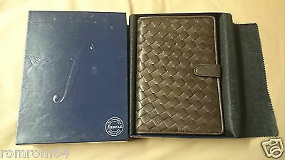 Filofax Basketweave Original Vintage Accessories Box Personal Organizer Brown