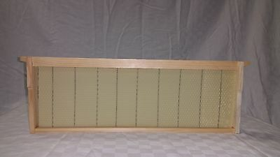 Assembled Bee Hive Frame - Crimped Wired Wax Foundation Medium 10 Ea