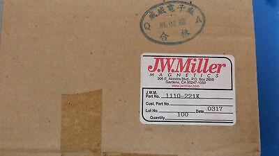 5 Pcs 1110-221k Jw Miller Rf Fixed Inductors 220uh 10 Obsolete