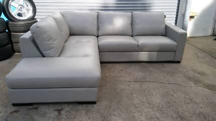 6 seater leather modular sofa lounge