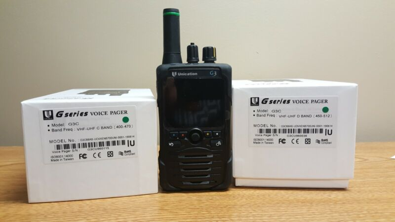 Unication G3 P25 VHF/UHF Pager