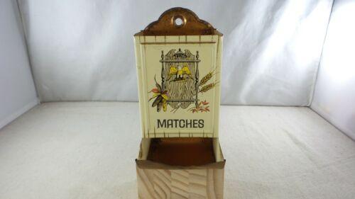Vintage Tin Match Box Holder Dispenser - 1776 Eagle Design