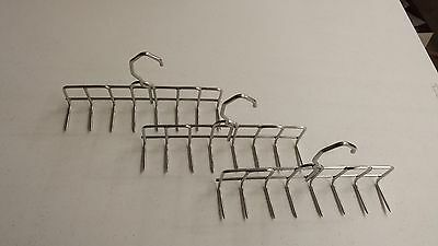 Stainless Steel Smokehouse Bacon Hangers 9 Inch 8 Prong 3 Hangers