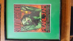Pearl Jam Metallica Soundgarden Frames Art Gumtree Australia