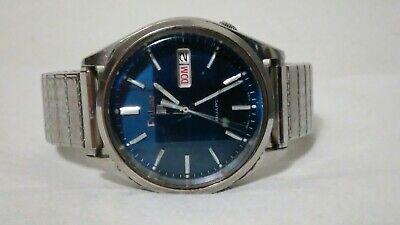 Vintage Pulsar By Seiko Men's 34mm Y513-8039 Watch 36mm,blue dial.,runs.