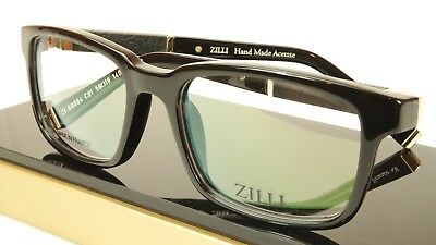 97973953bb8 ZILLI Eyeglasses Frame Acetate Leather Titanium France Hand Made ZI 60004  C01