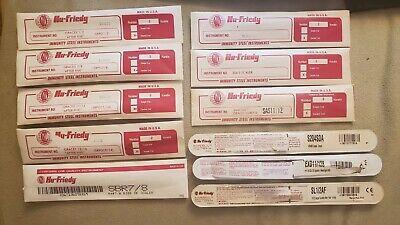 Lot Of 11 Packaged Hu-friedy Dental Instruments Curette Explorer Scaler Etc